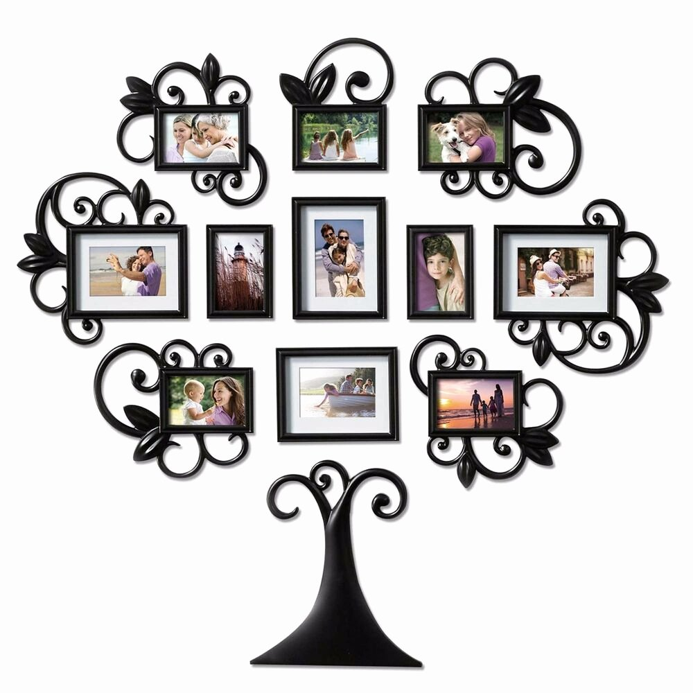 Picture Of Family Tree Lovely 12 Piece Family Tree Picture Frame Collage Set Black
