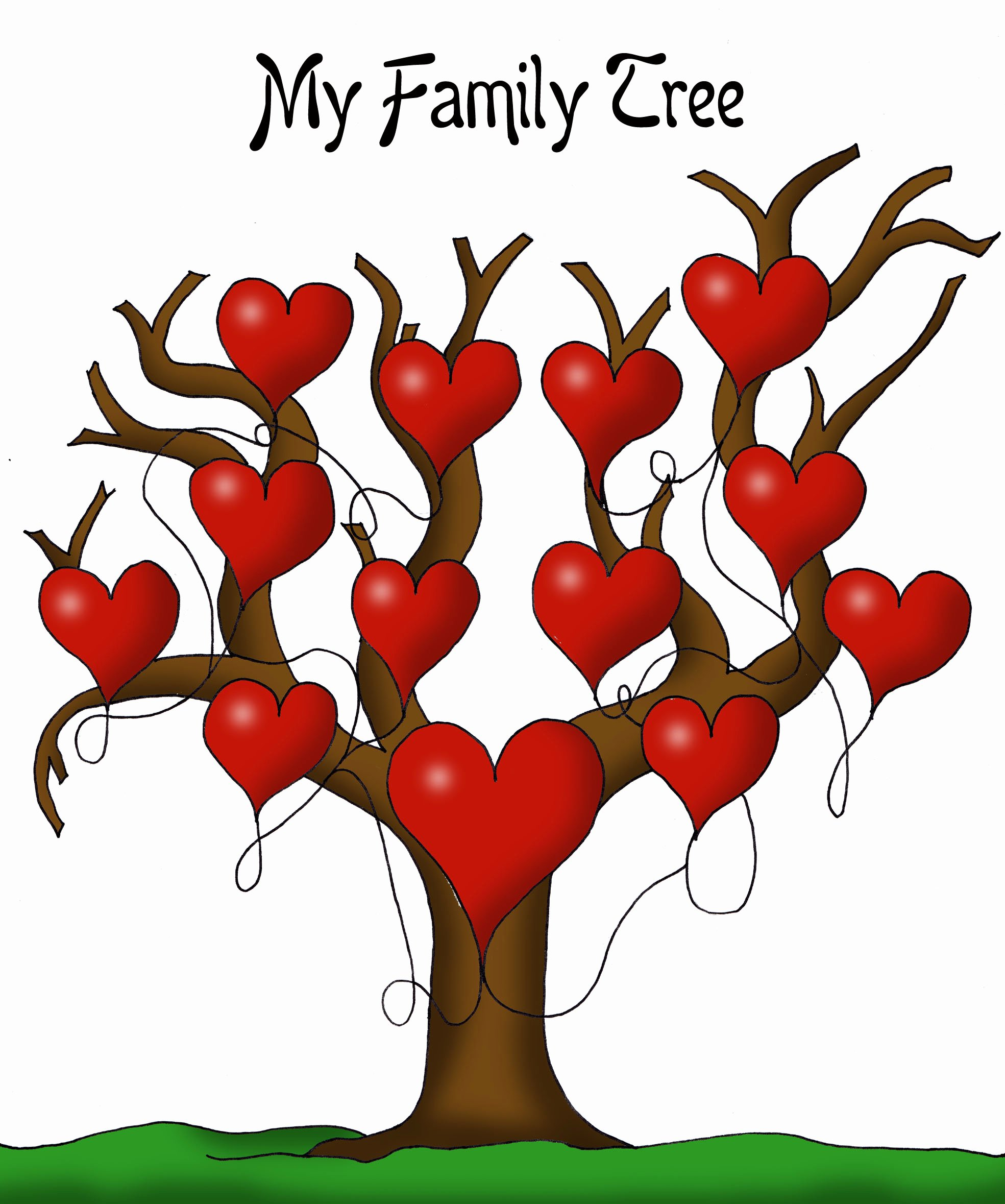 Pictures Of Family Trees Beautiful A Printable Blank Family Tree to Make Your Kids Genealogy Chart