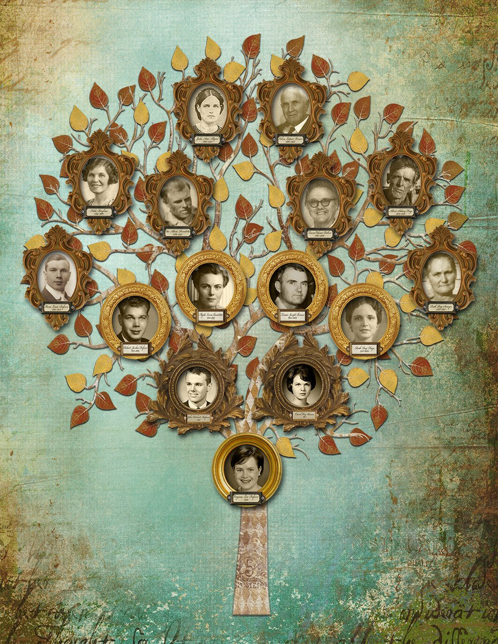 Pictures Of Family Trees New Family Tree Custom Four Generation Tree with S