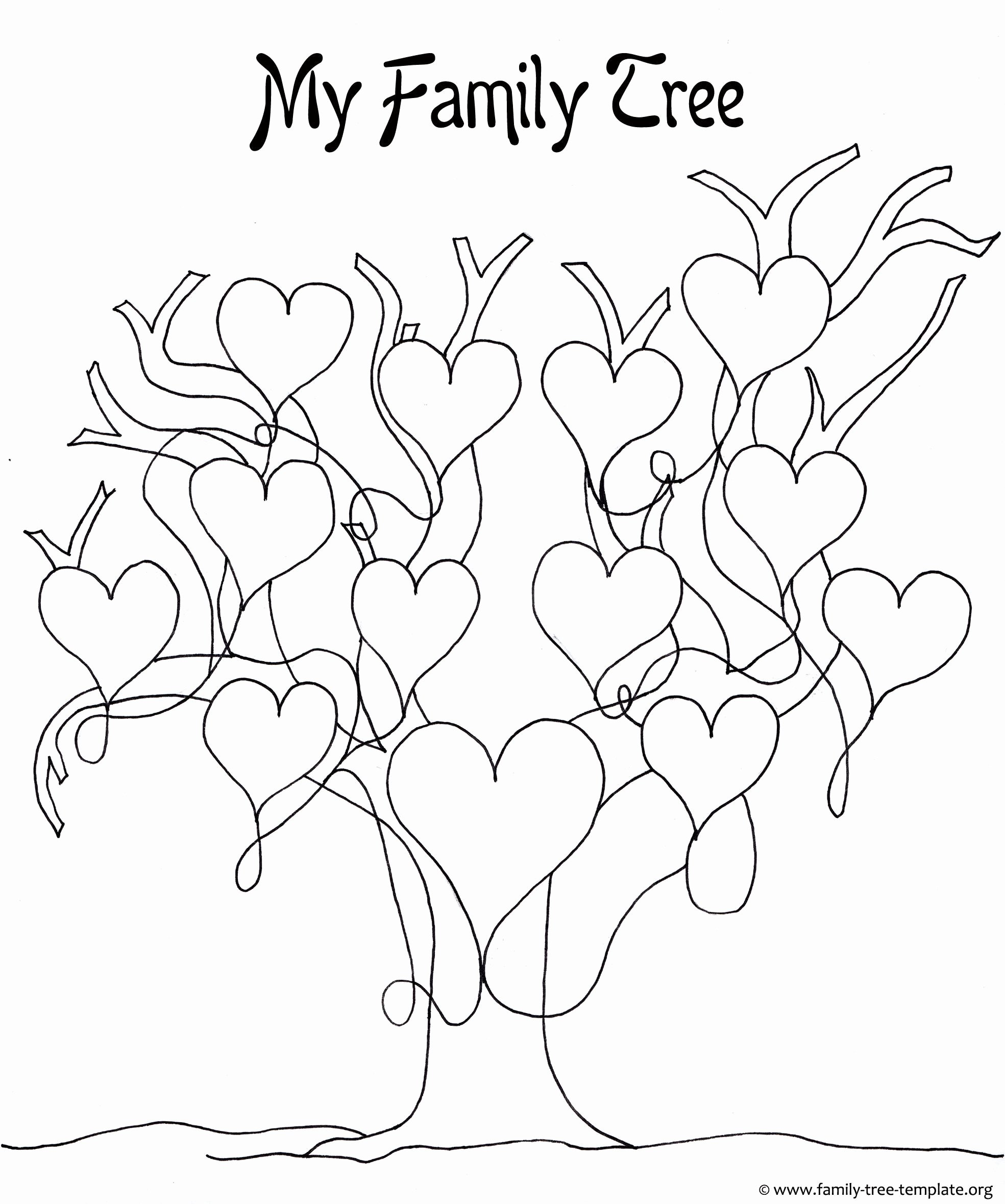 Pictures Of Family Trees New Printable Tree Template Coloring Home