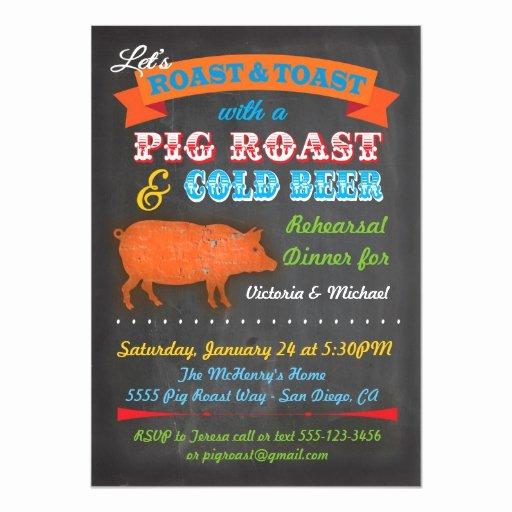 Pig Roast Invitation Template Free Beautiful Chalkboard Pig Roast Party Invitation