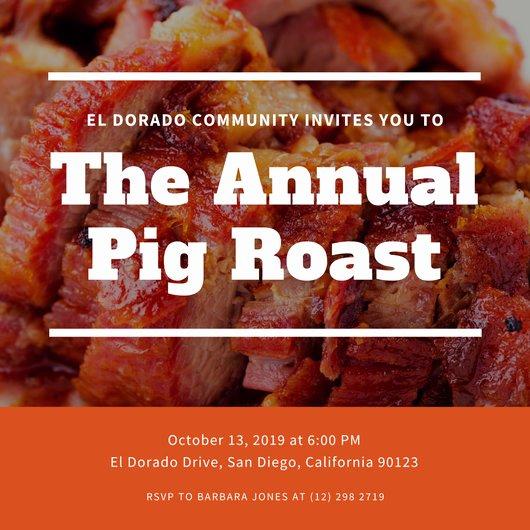 Pig Roast Invitation Template Free Beautiful Customize 55 Pig Roast Invitation Templates Online Canva