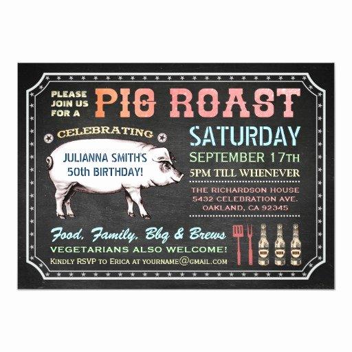 Pig Roast Invitation Template Free Inspirational Chalkboard Pig Roast Invitations Classy & Casual