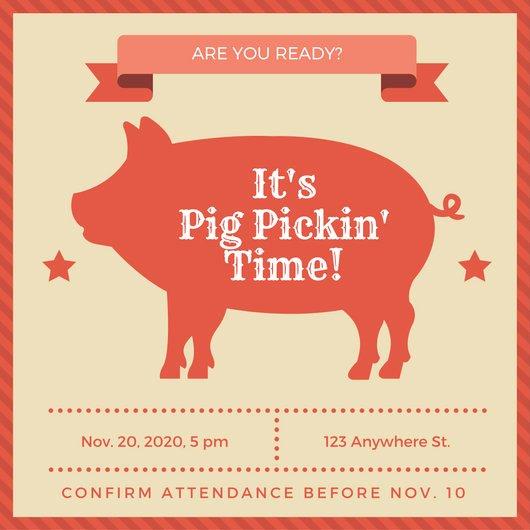 Pig Roast Invitation Template Free Unique Customize 55 Pig Roast Invitation Templates Online Canva
