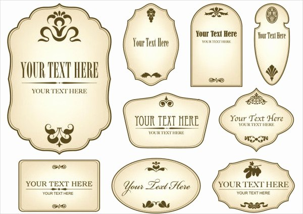 Pill Bottle Label Template Best Of 12 Vintage Bottle Label Templates Free Printable Psd