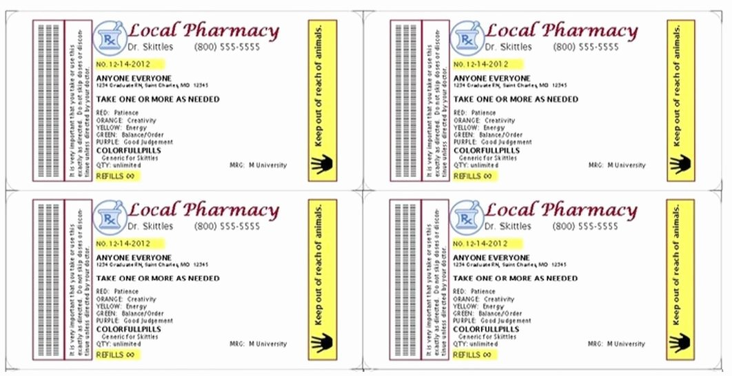 Pill Bottle Label Template Luxury Pin by Kathy March On Grad