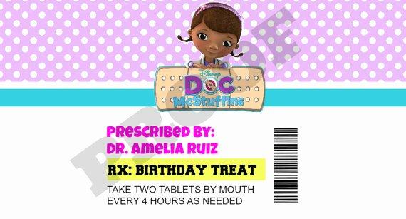 Pill Bottle Labels Templates Luxury Items Similar to Doc Mcstuffins Prescription Bottle Labels On Etsy