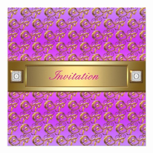 Pink and Gold Invitations Templates Lovely Hot Pink Gold Party Invitation Template