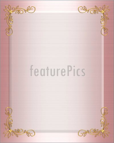Pink and Gold Invitations Templates Lovely Templates Pink Satin formal Invitation Border Stock Illustration I at Featurepics