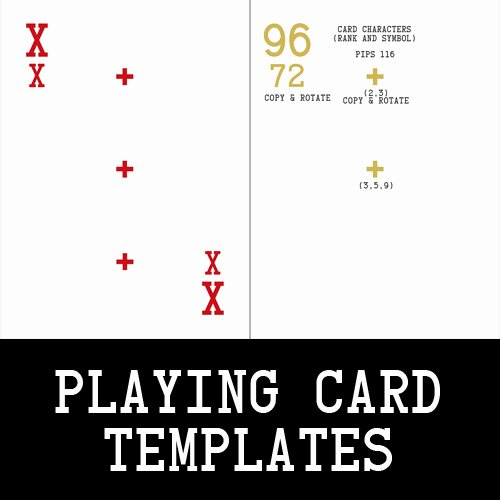 Playing Card Template Photoshop Inspirational Playing Card Templates