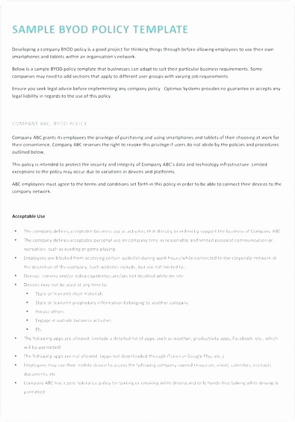 Policy Brief Template Download Fresh It Policy Template Free