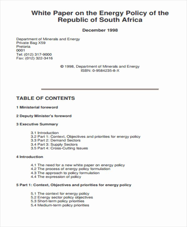 Policy Brief Template Download Inspirational 43 Free White Paper Templates