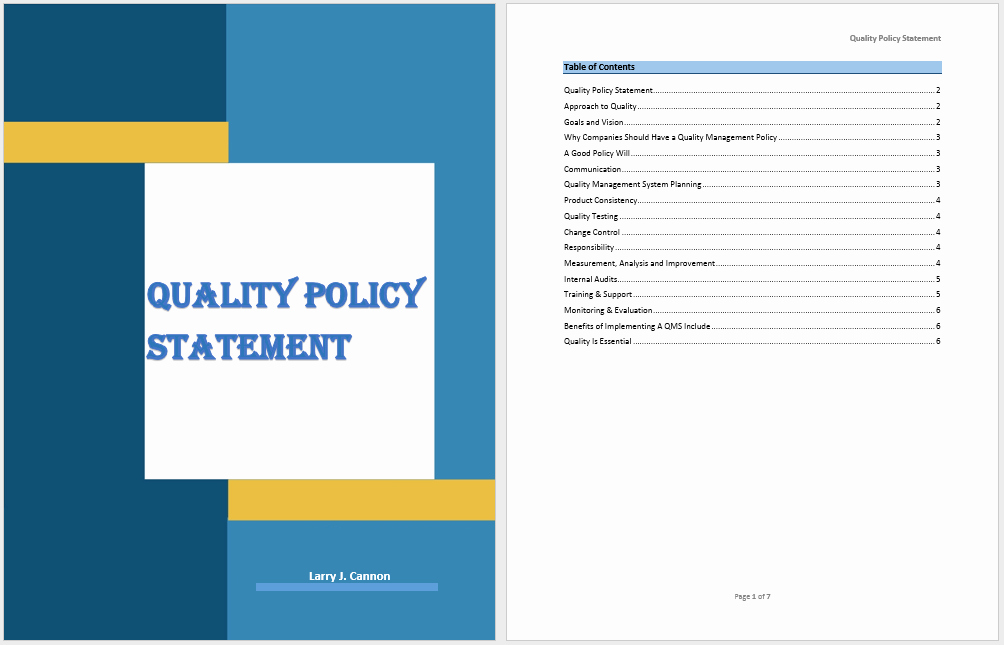 Policy Brief Template Microsoft Word Awesome 18 Free Quality Policy Statement Templates Ms Fice Documents