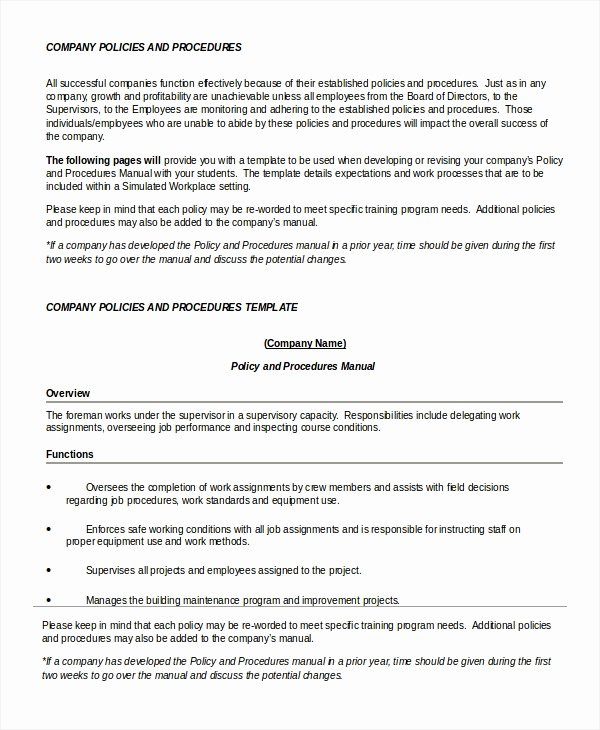 Policy Brief Template Microsoft Word Awesome Policy Template 7 Free Word Pdf Documents