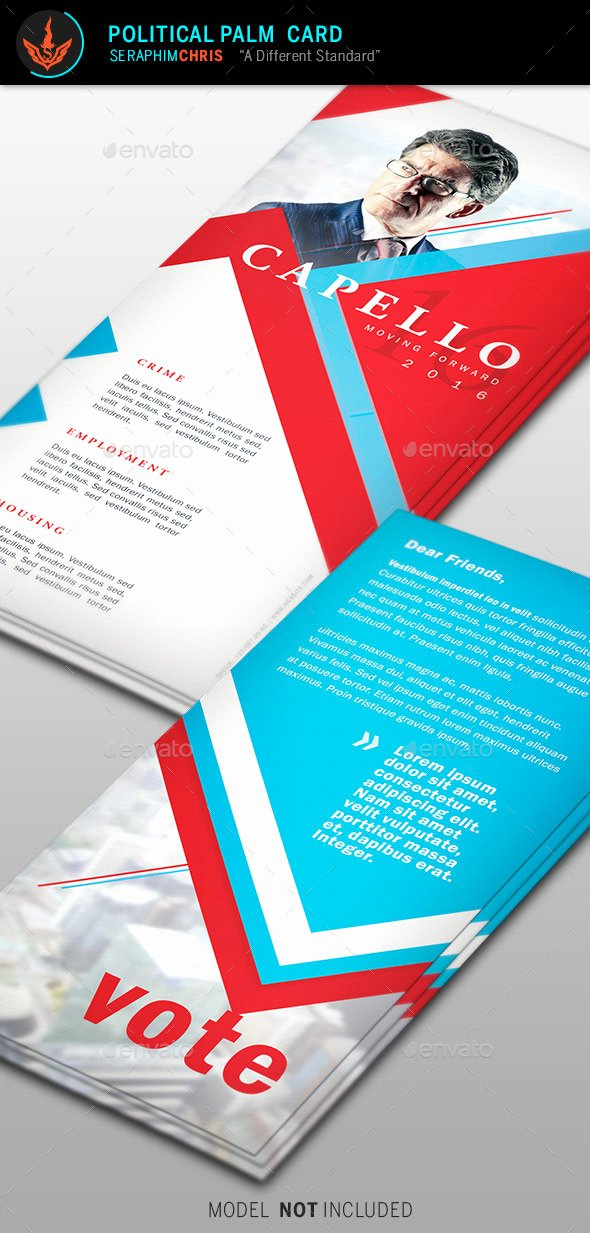 Political Palm Card Template Awesome Political Palm Card Template 6 by Seraphimchris