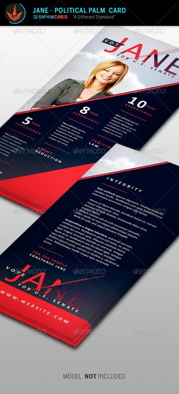 Political Palm Card Template Elegant Jane Political Palm Card Template by Seraphimchris