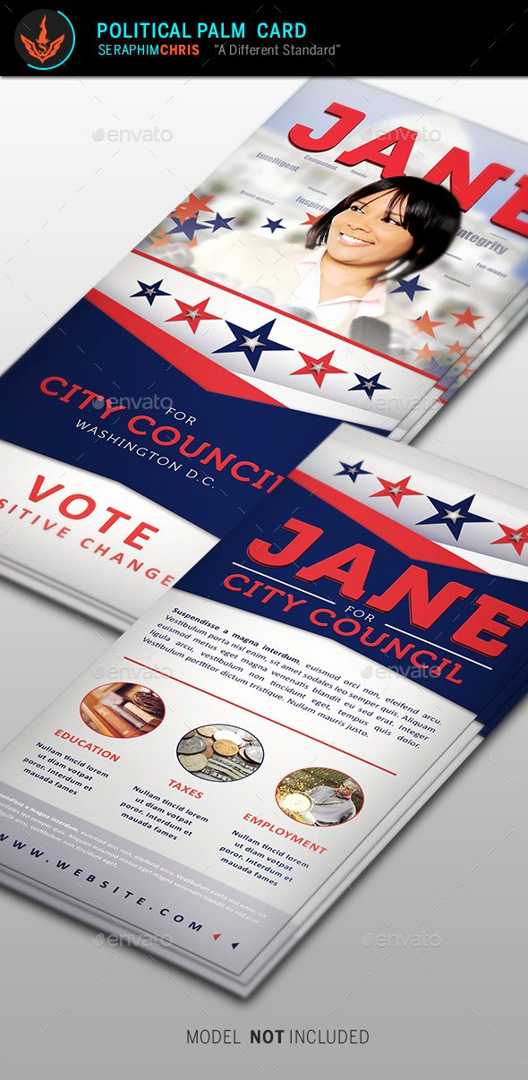 Political Palm Card Template Elegant Political Flyer Template Chreagle