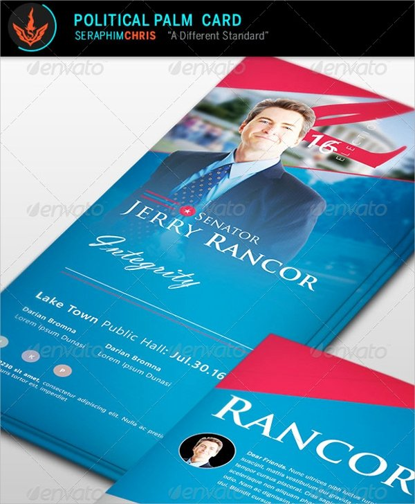 Political Palm Card Template Lovely 12 Political Brochures Psd Vector Eps format Download