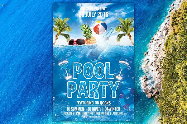 Pool Party Flyer Templates Free Best Of 25 Pool Party Flyer Templates Free & Premium Download