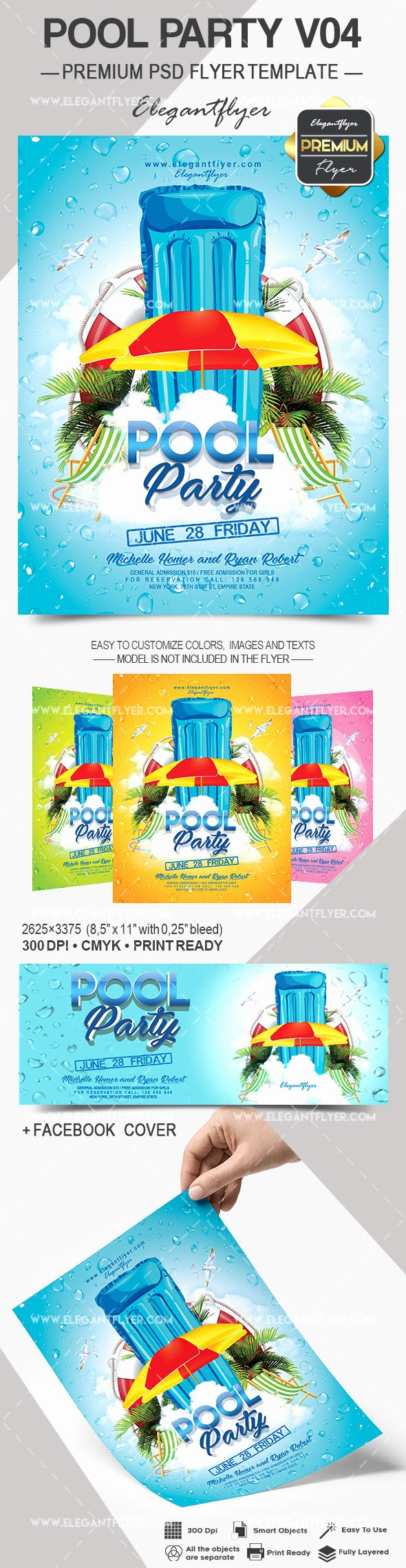 Pool Party Flyer Templates Free Best Of Pool Party V04 – Flyer Psd Template – by Elegantflyer