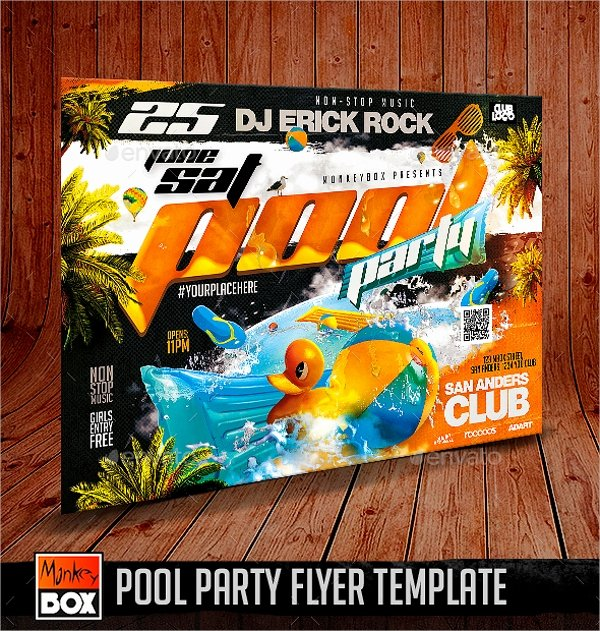Pool Party Flyer Templates Free Elegant 23 Pool Party Flyers Free Psd Word Ai Eps format Download