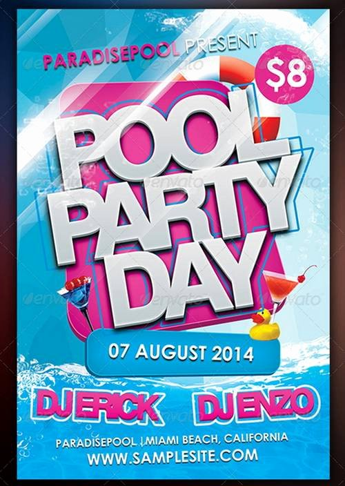 Pool Party Flyer Templates Free Elegant Free Printable Pool Party Flyers