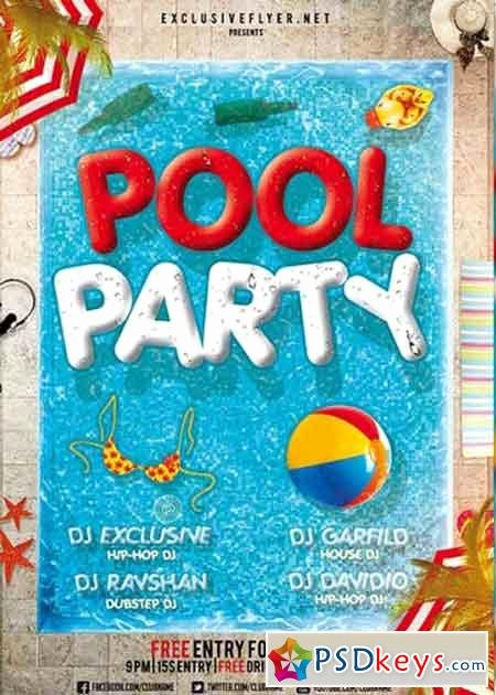 Pool Party Flyer Templates Free Fresh Pool Party V12 Premium Flyer Template Cover Free Download Shop Vector Stock