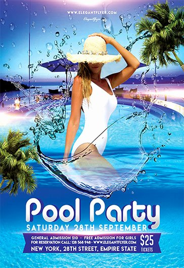 Pool Party Flyer Templates Free Inspirational Pool Party V05 – Flyer Psd Template – by Elegantflyer