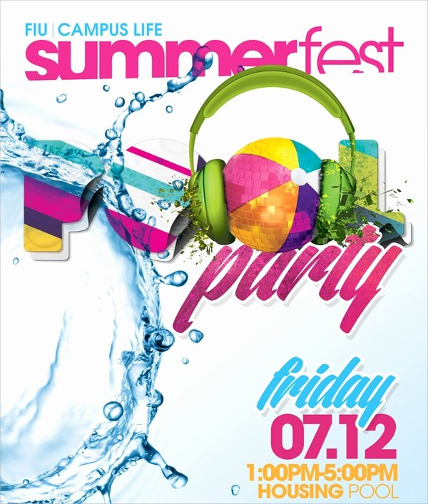 Pool Party Flyer Templates Free Lovely 18 Pool Party Flyer Templates Psd Free Eps format Download
