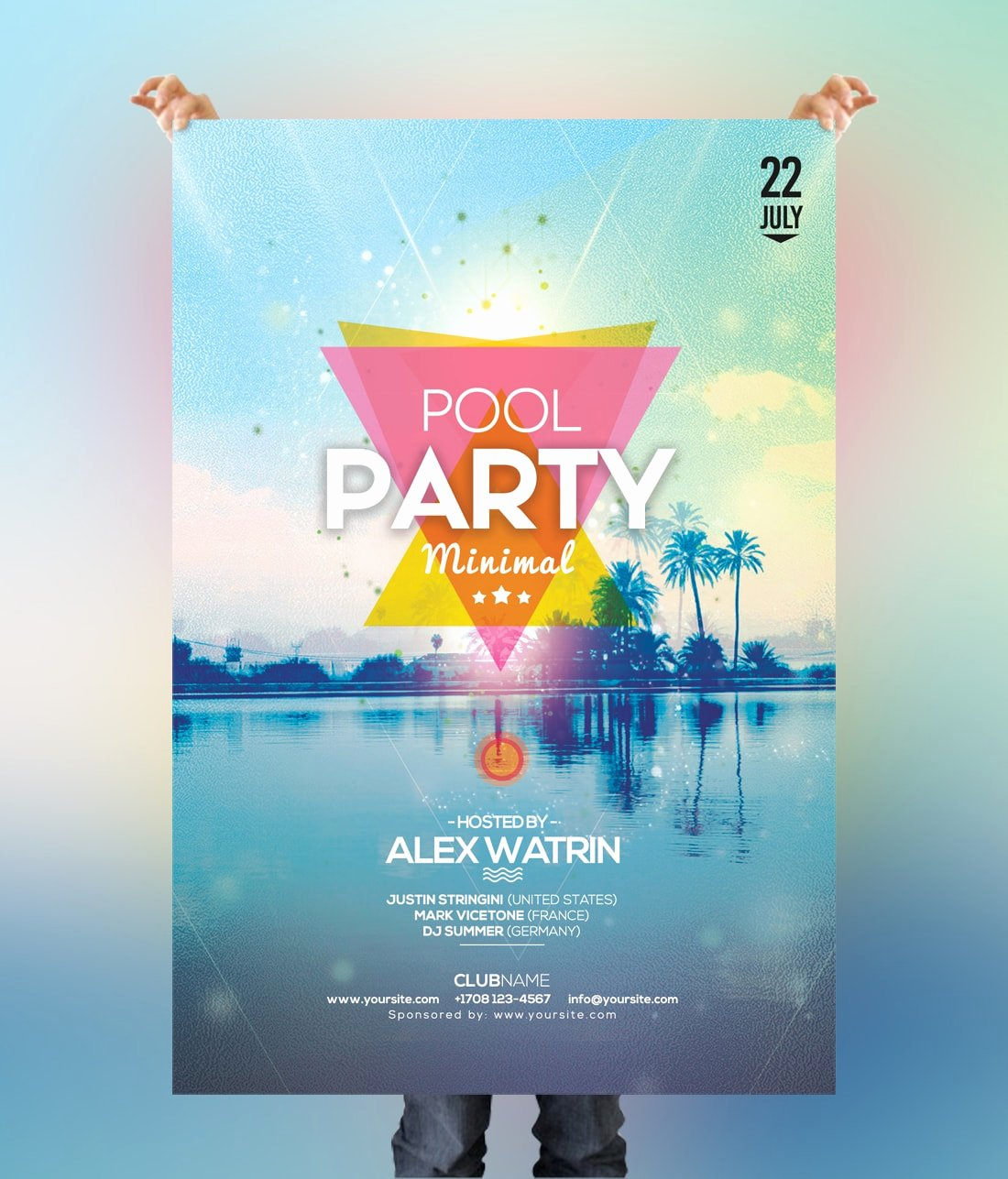 Pool Party Flyer Templates Free Lovely Pool Party Free Summer Psd Flyer Template Psdflyer