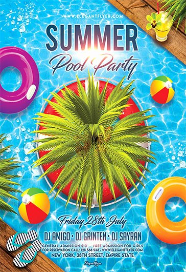 Pool Party Flyer Templates Free Luxury Free Flyers Templates and Premium Flyers