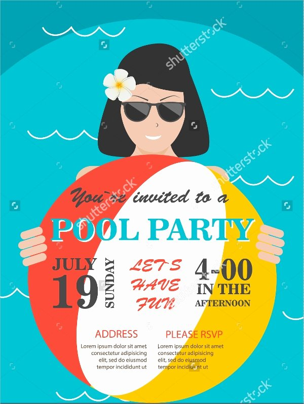 Pool Party Flyer Templates Free Unique 23 Pool Party Flyers Free Psd Word Ai Eps format Download