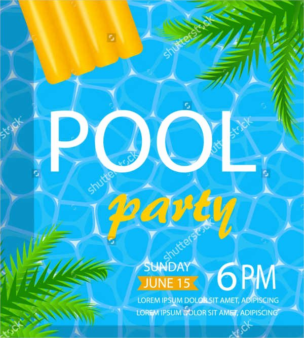 Pool Party Flyer Templates Fresh 65 Party Flyer Templates Psd Ai