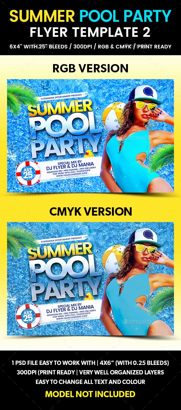 Pool Party Flyer Templates Fresh Summer Pool Party Flyer Template 2 by Flyermania