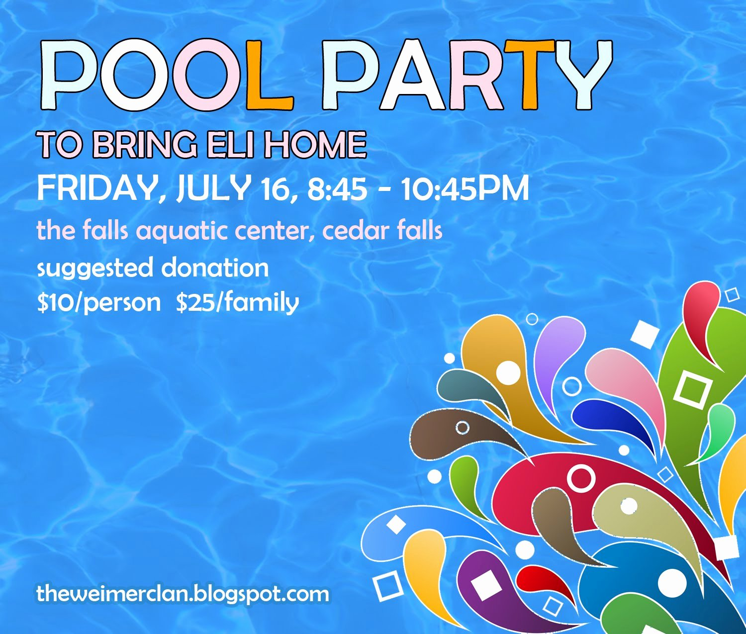 Pool Party Flyer Templates Inspirational Bring Home Eli Save the Date Pool Party