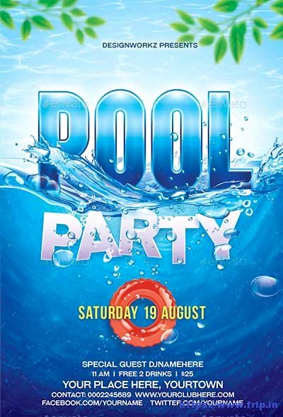 Pool Party Flyer Templates Lovely 50 Best Summer Pool Party Flyer Print Templates 2019