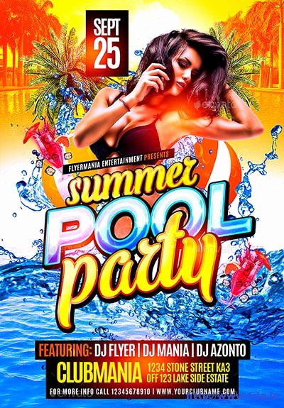 Pool Party Flyer Templates Luxury 40 Best Summer Pool Party Flyer Print Templates 2016