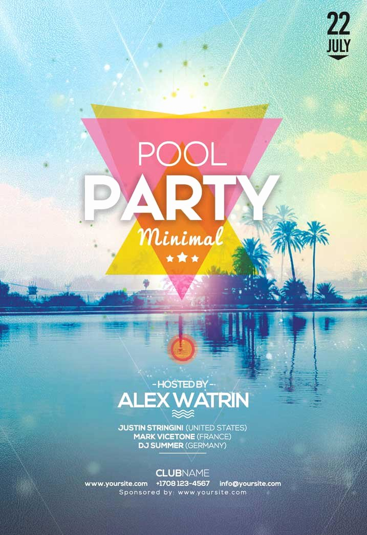 Pool Party Flyer Templates Luxury Summer Pool Party Free Flyer Template