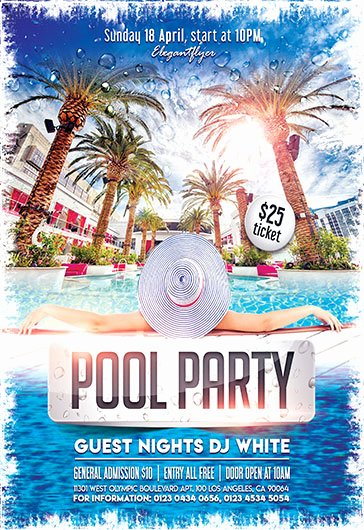 Pool Party Flyer Templates New Free Flyers Templates and Premium Flyers