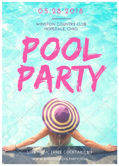 Pool Party Flyer Templates New Pool Party Flyer Templates by Canva