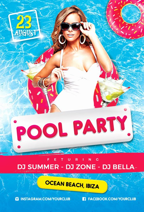 Pool Party Flyers Templates Beautiful Pool Party Vol 2 Flyer Template Flyer for Summer and