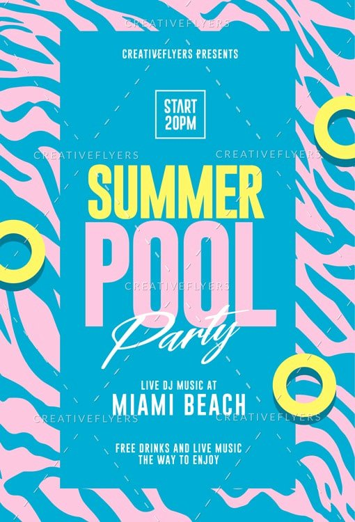 Pool Party Flyers Templates Best Of Summer Pool Party Flyer Template Creative Flyers