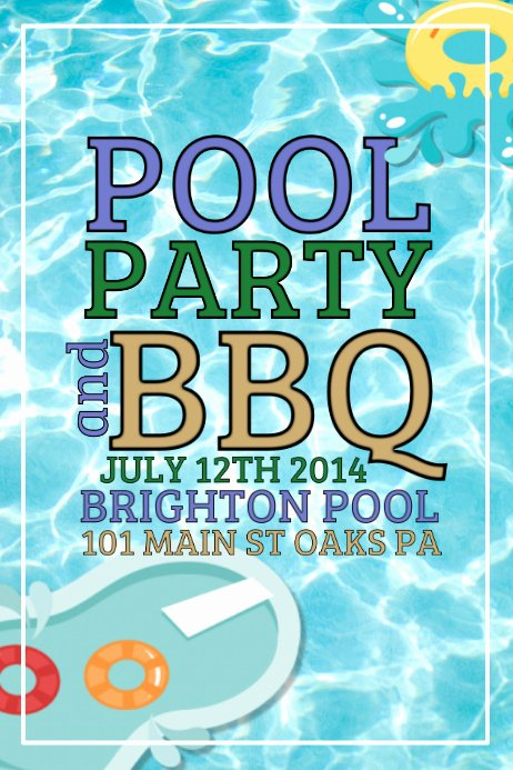 Pool Party Flyers Templates Fresh Pool Party Template