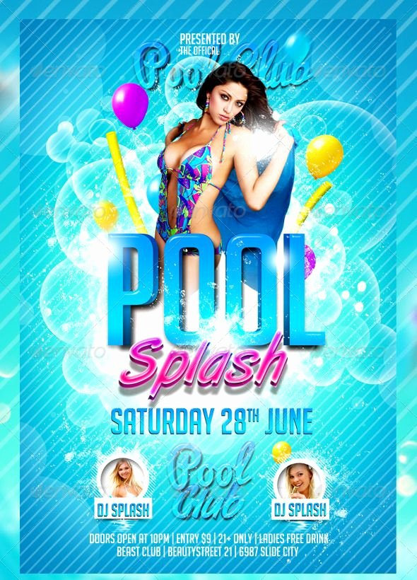 Pool Party Flyers Templates Luxury 10 Best Summer Flyers Images On Pinterest