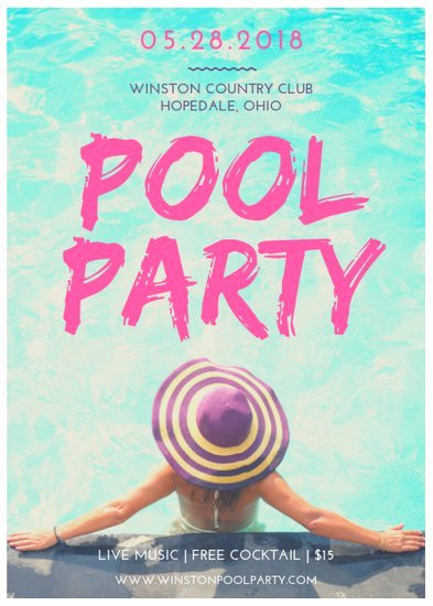 Pool Party Flyers Templates Luxury Customize 174 Party Flyer Templates Online Canva
