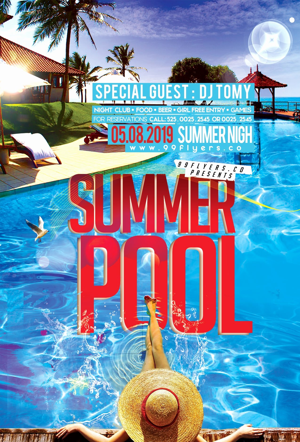 Pool Party Flyers Templates New Summer Pool Party Free Psd Flyer Template Free Psd Flyer