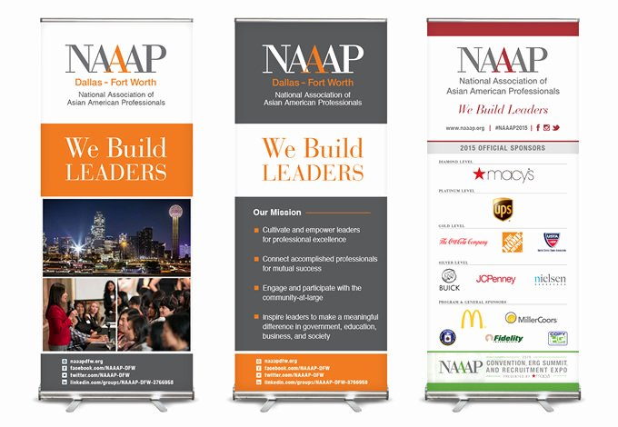 Pop Up Banner Designs Awesome Branding and Design for Naaap Dallas fort Worth
