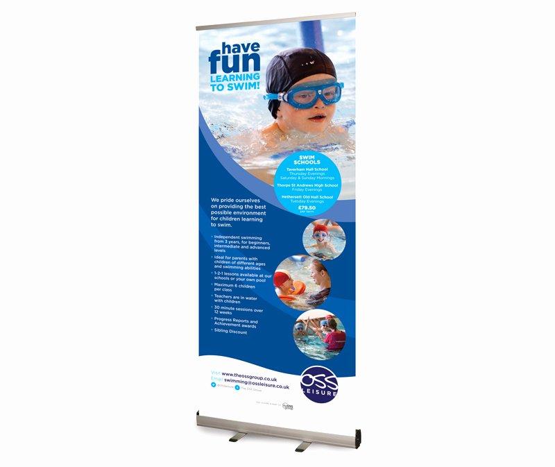 Pop Up Banner Designs Elegant Oss Leisure Swim Schools Pop Up Banner Designs Paul Kirk Design
