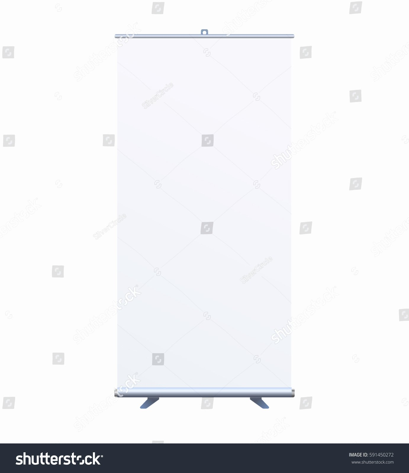 Pop Up Banner Template Elegant Roll Banner Stand isolated Clean Stock Vector Shutterstock