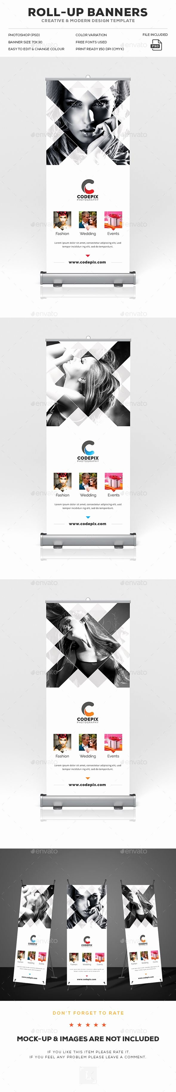 Pop Up Banner Template Lovely Graphy Roll Up Banner Template Psd Download Here… Poster